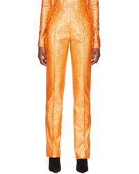 Saks Potts Orange Shimmer Lissi Pants