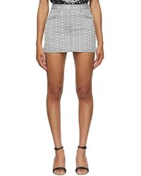 Givenchy ブラック & ホワイト 4g デニム ミニスカート