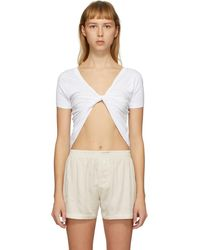 Jacquemus T-shirt blanc Le T-shirt Sprezza exclusif a SSENSE