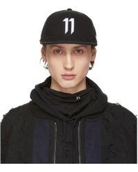 Boris Bidjan Saberi 11 ブラック ロゴ キャップ