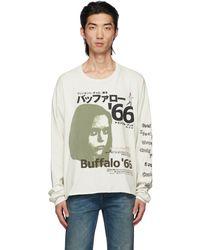 Enfants Riches Deprimes T-shirt à manches longues japanese buffalo '66 blanc cassé