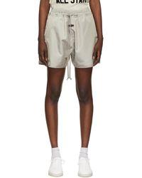 Fear Of God Gray Iridescent Track Shorts