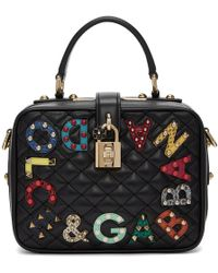 Dolce & Gabbana - Black Quilted Box Bag - Lyst