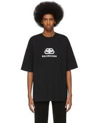 Balenciaga T-shirt noir BB Regular Fit