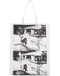 CALVIN KLEIN 205W39NYC - White Ambulance Disaster Soft Tote - Lyst