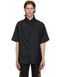 424 Chemise noire Jacquard Logo