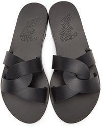 Ancient Greek Sandals Desmos Sandals - Black