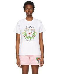 CASABLANCA ホワイト Casa Tennis Club T シャツ