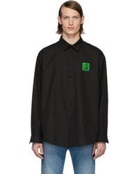 Balenciaga - ブラック ビンテージ ロゴ シャツ - Lyst