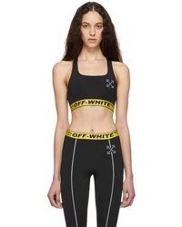 Off-White c/o Virgil Abloh - Ssense Exclusive Black Workout Jersey Sport Bra - Lyst