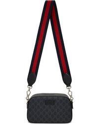 Gucci - Black Small GG Supreme Camera Bag - Lyst