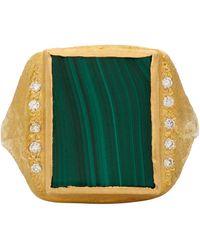 Elhanati - Bague à diamants de pureté VVS dorée Roxy Signature - Lyst