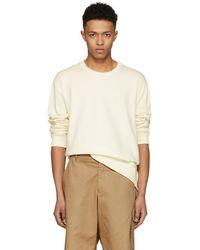 3.1 Phillip Lim - Ecru Re-constructed Sweatshirt - Lyst