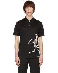 Alexander McQueen ブラック ポロシャツ