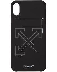 Off-White c/o Virgil Abloh ブラック And ホワイト アンフィニッシュ Iphone Xs Max ケース