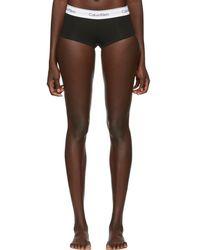 Calvin Klein - Black Modern Cotton Boy Shorts - Lyst