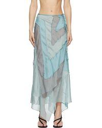 Acne Studios Blue Ben Quinn Edition Chiffon Skirt