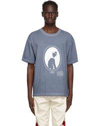 Maison Margiela ブルー Silhouette Print T シャツ