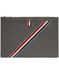 Thom Browne - Grey Small Tablet Holder - Lyst