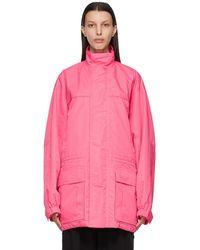 Balenciaga ピンク ライト パーカー