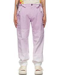 Faith Connexion Pantalon cargo mauve à motif tie-dye - Violet