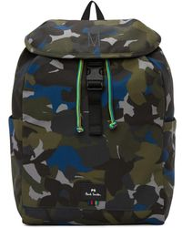 PS by Paul Smith - Green Camo Backpack - Lyst