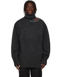 Y. Project グレー & ブルー オーバーサイズ セーター