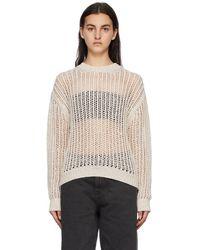 Amomento Off-white Crochet Pullover