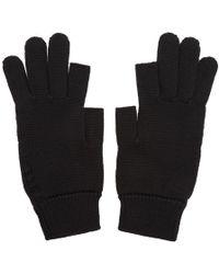 Rick Owens - Black Knit Gloves - Lyst