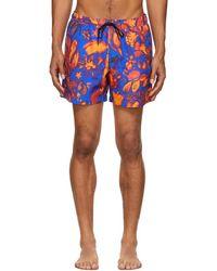 Tiger Of Sweden Blue & Red Sjo Shorts