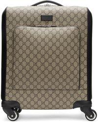 Gucci - Beige Gg Supreme Suitcase - Lyst