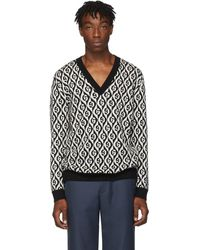 Gucci Gg Wool Jacquard Sweater - Black