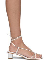 Martiniano Spaghetti Heeled Sandals - White