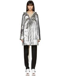 Paco Rabanne - Silver Cord String Hooded Parka - Lyst