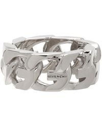 Givenchy Silver G Chain Ring - Metallic