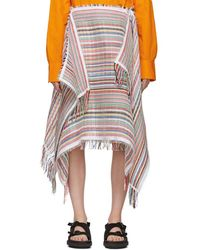 JW Anderson - Multicolour Stripe Scarf Skirt - Lyst