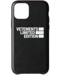 Vetements ブラック Limited Edition ロゴ Iphone 11 Pro ケース