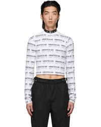 Hood By Air All Over Print Crop Long Sleeve T-shirt - White