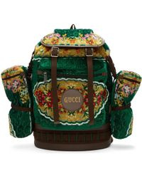 Gucci Men's Tapestry Flap-top Backpack - Green