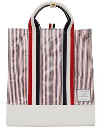 Thom Browne Multicolour Striped Tote