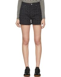 Étoile Isabel Marant - Black Denim Felsey Shorts - Lyst
