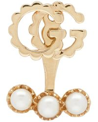 Gucci - Gold Single Gg Running Earring - Lyst