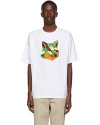 Maison Kitsuné T-shirt blanc Neon Fox