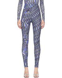 Maisie Wilen Purple Body Shop Leggings - Blue