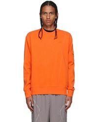 A_COLD_WALL* * オレンジ Essential Compass Pocket スウェットシャツ