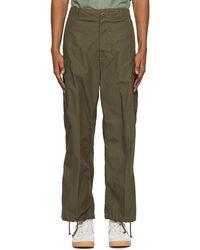 Beams Plus Pantalon cargo kaki Military 6-Pocket - Vert