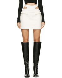 Dion Lee Off-white Y-front Miniskirt