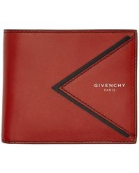 Givenchy - レッド V シェイプ カット バイフォールド ウォレット - Lyst