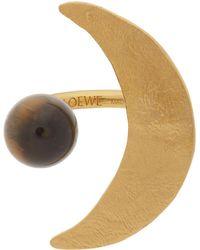 Loewe ゴールド Ellipse リング - メタリック