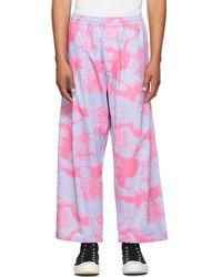 Vyner Articles Pantalon de survêtement tropic rose et bleu
